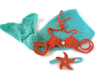 Toddler Mermaid Outfit - Mermaid Outfit - Mermaid Top - Mermaid 1st Birthday - Toddler Mermaid Tail - Mermaid Birthday Outfit - Baby Girl