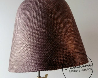 Panned Visca Cone Hood Hat Body (Stiffened) for Millinery & Hat Making - Chocolate Brown