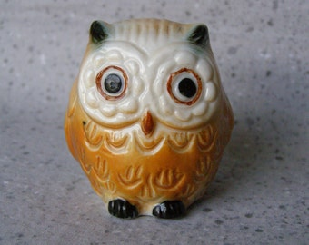 Bone China Owl Figurine Taiwan