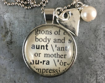 Dictionary Word Necklace - Aunt