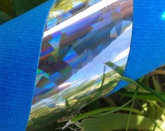 Adult Basic Hula Hoop - Crystal Confetti Sparkle and Bright Blue