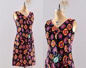 45% OFF SALE.... vintage 1960s dress - cotton dress / novelty print / vintage 60s dress