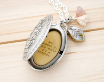 She knew that she was formed by God's hands, dreamed up in His heart - faith necklace, christian jewelry, daughter gift, back to school