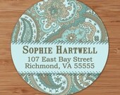 Sophie (Retro Paisley) Custom Address Labels or Stickers