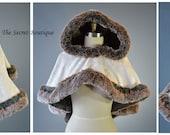 Reserved listing for Michelle-capelet-velvet-faux fur-viking-cape-alternative-the secret boutique-fairytale-steampunk-outlander cape-cospla