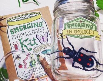 Emerging Entomologist Kit: a temporary home for tiny critters of all kinds!