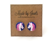 Fabric Button Earrings - Always Be a Unicorn - Buy 3, get 1 FREE