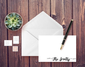 Personalized - FANCY SCRIPT - Note Cards - Personalized Stationery - Stationery Set - Wedding Stationery - Family - Engagement Announcement