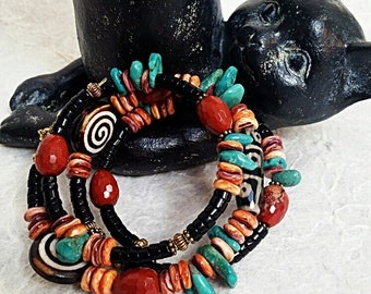 Tribal Wrapped Boho Bracelet