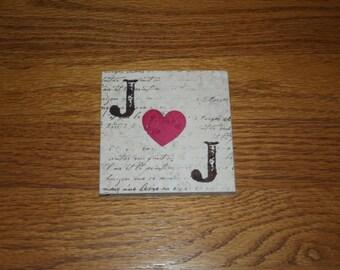 Double Initial Monogram Coasters Engaged Engagement Gift Coasters Love Heart Coasters Wedding Monogram Stone Coasters Set of 4 Drink Coaster