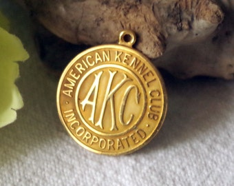 Vintage American Kennel Club Medallion - AKC National Championship Dog Award Medal 1992