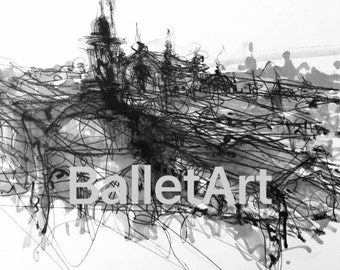 Like Paris, art print, architectural drawing, sketch, paris skyline, paris print, paris decor, paris france, artwork, paris gifts