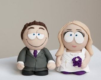cartoon Southpark style wedding cake toppers or gifts to order
