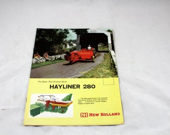 Hayliner 280. Vintage Tractor Advertisement. Vintage Hay Baler Advertisement. Manual. Farm Machinery Manual. New Holland 1961. Mid Century