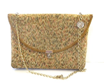 Vintage Carpetbag Purse with Chain Strap