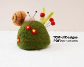 PDF Needle Felting Snail Pincushion Instructions, wool complete garden fiber for beginners and intermediates