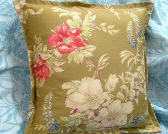 "PILLOW Shams (2) Ralph Lauren Fabric BOATHOUSE FABRIC 16"" x 16"""