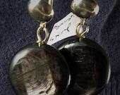 hypersthene and sterling earrings