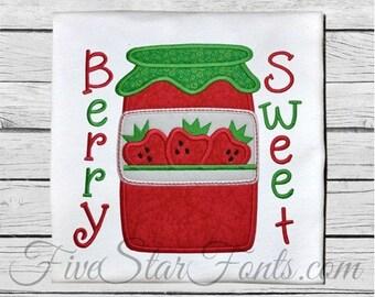 Strawberry Jam Applique