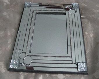 MOSAIC MIRROR Mirror , Accent Mirror, Silver Mirror Glass
