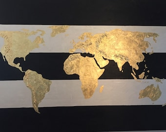 Gold leaf world map timekeeperwatches gumiabroncs Images
