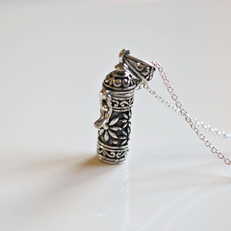 stash necklace sterling silver wish box pill snuff