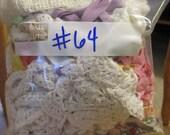 1/2 LB Grab Bag of Vintage Trims, Laces, Ribbons Etc No. 64 (Buy 4, Get 1 Deal)