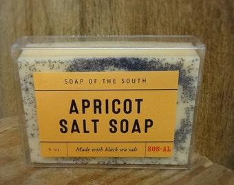 Apricot Black Salt Soap Bar - 5 ounce