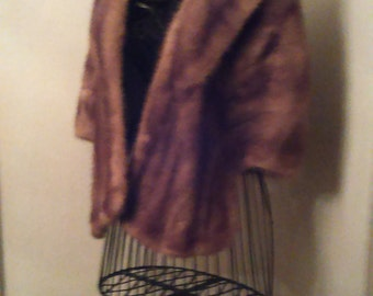 Mink Cape Retro 1950s
