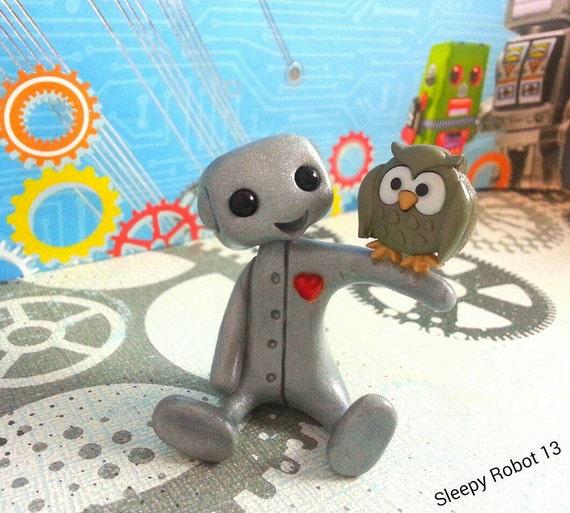 Robot and his Pet Owl
