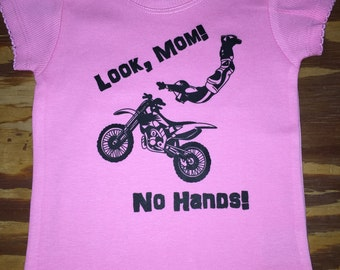 SALE- Dirt Bike Girl- Look Mom, No Hands