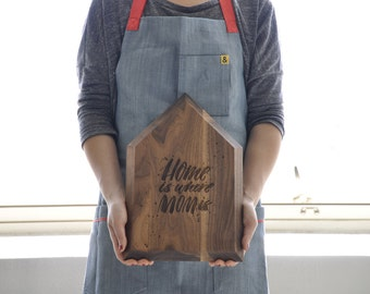 Personalized Engraved Cutting Board - Gift For Mom - Mom Birthday Gift