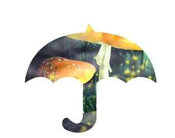 Fantasy Umbrella 2 -Digital Immediate Download-Flowers-Background-Banner-Jewelry-Scrapbook-Gift Tag-Gift Cards-Notebook.