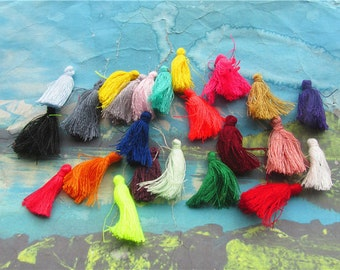 New  100pcs 30mm assorted cotton Ear Tassel charms