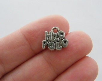 4 H2O Polo charms antique silver tone SP146