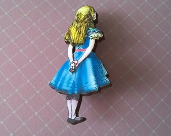 Alice in Wonderland Brooch,Handmade Pin,Accessories,Alice in Wonderland Jewelry