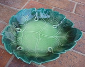 Will George Pottery Leaf Dish - Vintage Leaf Decor Dish - 1950s Floral Decor