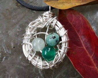 Back to nature  nest pendant
