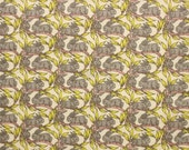 Liberty tana lawn printed in Japan - Cotton tail - Gray yellow  mix