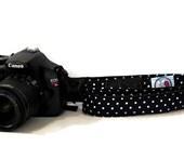 "Thin Camera Strap Polka Dot 26"" NECK - PICK Fabric"