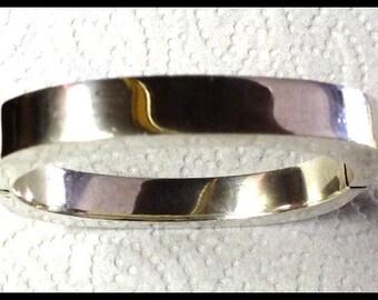Vintage Sterling Silver Clamp Bangle Bracelet 40.8 grams FREE SHIPPING