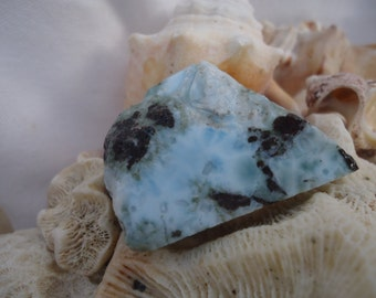 Larimar Slab #98 - Heart Stone, Soul Mate, Twin Flame, Relationship Healing, Heart Healing, Heart Chakra, Atlantis Encoded Stone