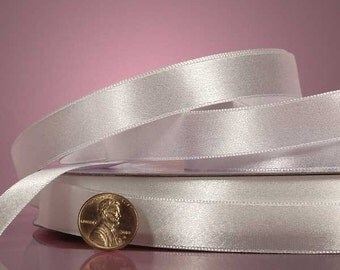 "1/4"" Satin Ribbon - White"