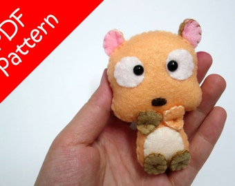 Hamster Plush PDF Pattern -Instant Digital Download