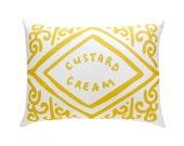 Custard Cream Printed Cushion