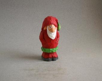 Small Santa wood carving