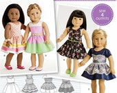 American Girl Doll Clothes Pattern, 18 inch Doll Clothes Pattern, Simplicity Sewing Pattern 8192
