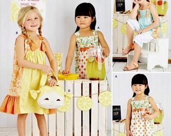 Little Girls' Sundress Pattern, Girls' Capri Pants Pattern, Little Girls' Suntop Pattern, Sz 3 to 8, Simplicity Sewing Pattern 8145