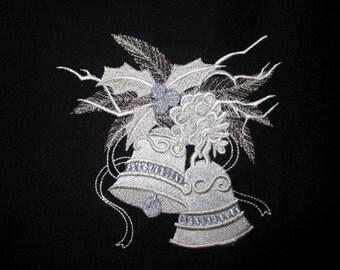 6 Elegant Holiday Embroidered Quilt Blocks