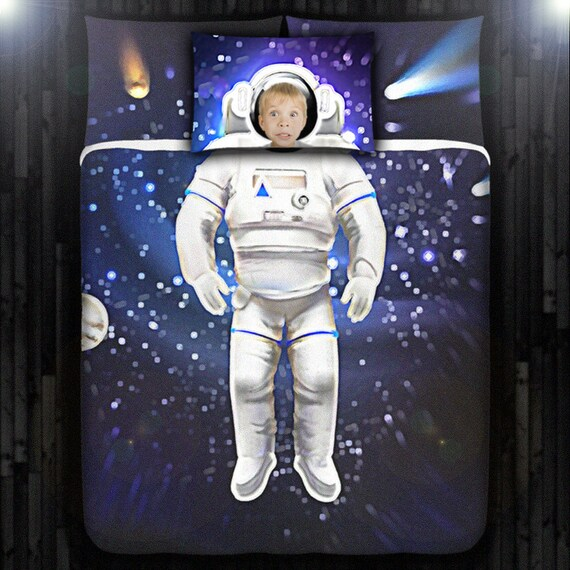 Kids Astronaut Bedding Duvet Cover Queen Size King By